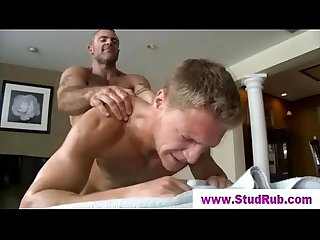 Straight guy assfucked by muscular gay masseur
