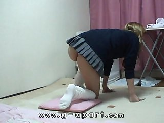 Upskirt the Japanese schoolgirl underwear