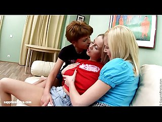 Big tit lesbians Remi Questa and Mandi go down on each other in a steamy threeso