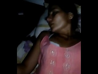 Desi cute village bhabi nice fucking at night