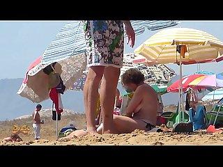 Topless mama hija playa full hd traviesox
