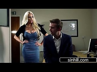 Blonde Bimbo Sexretary Nicolette Shea Pleasing Her Boss