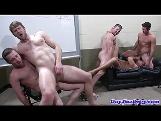 Hot group sex with Mike De Markos pals