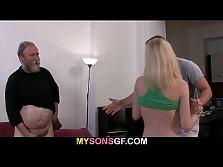 Dad punishes his son s gf
