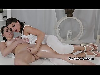 Euro masseuse fingering brunette babe
