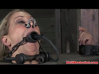 Stocked skank being mouth gagged by maledom