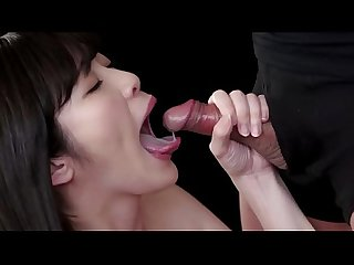 Japanese babes love to suck and swallow