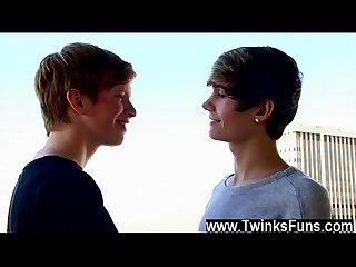 Cute gay anal sex something about the sight has these Twink lovers