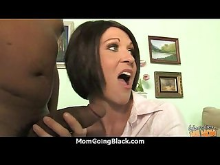 Hot milf takes on 12 inch huge monster black cock 16