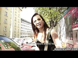 Bianka takes money to give a public blowjob