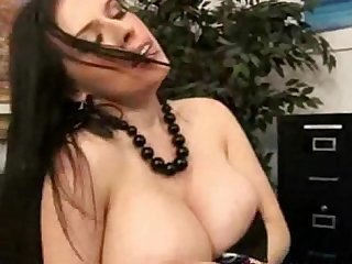 Billy s boss lets him suck her big natural tits