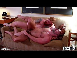 Redhead prostitute bennett anthony serves dirk caber his hot big cock