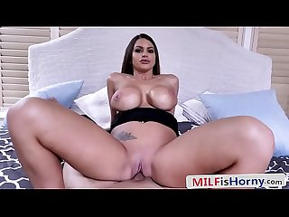 Stepson Banging His Gorgeous Busty Stepmom POV - Brooklyn Chase