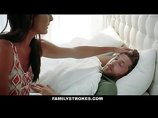 Familystrokes sweet stepmom fucks son to feel better