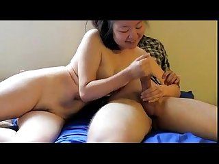 Exposed Asian Girlfriend Sucks A Hard Cock - StrongPornTube.com