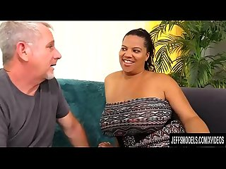 Busty Latina Plumper Lady Spice Loves Sucking and Fucking an Older Guy