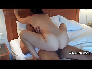 Cuckold hubby enjoy his wife fuck black cock on wifecuck com