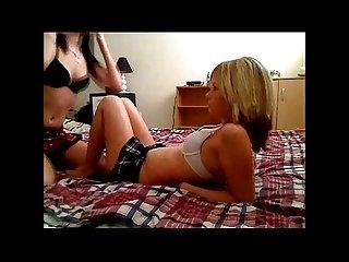 Two teen lesbians on webcam