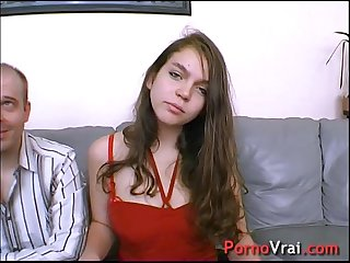 This young student co ed is getting fucked by all of them french amateur