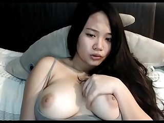 Sexy big boobs Asian girl on cam