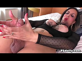 Shemale fernanda khelher masturbating on the bed