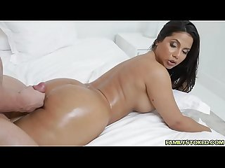 Stepmom Rose Monroe seduced stepson Peter Greenbanged with her and cums
