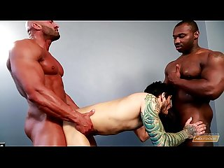 Next door ebony marc williams big black cock pleasures 2 white men
