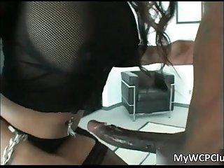 Hot ebony slut adina jewel blows stiff