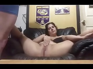 playing with wife In the Man Cave
