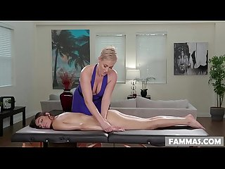 Open minded step daughter gets A Massage ryan keely and emily willis