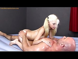 Piper perri gives erotic sensual oil Massage Sex and Blowjob