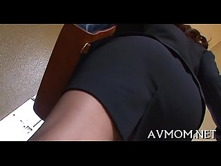 Tight bawdy cleft Milf likes vibrators