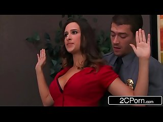 Bossy Bitch Ashley Adams Pounded By Two Security Guards