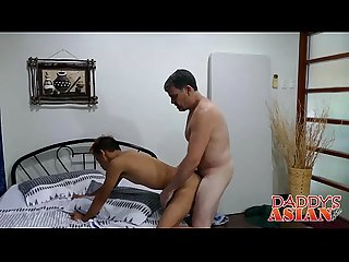 Cute little asian twink Nishi enjoys fucking with daddy