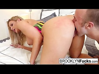 Brooklyn gets a load on her huge tits