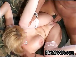 Two cocks in slutty bigtit MILF