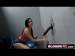 Sexy Latina Kitten Karlee Grey Gives Backroom Gloryhole Blowjob