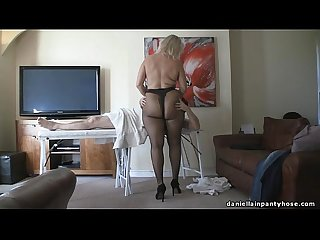 Pantyhose massage big ass woman in tights