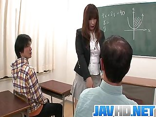Insolent teacher is in for a steamy fuck at school