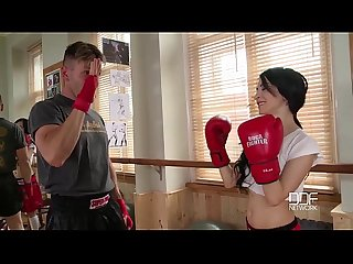 Euroteen petite female boxer with ultra tight pussy gets ass fucked