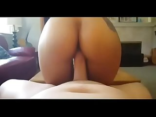 Asian reverse cowgirl