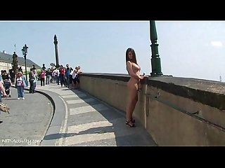 Horny babe monalee has fun on public streets