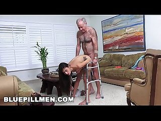 BLUE PILL MEN - Grandpa Popping Pills and Fucking Tight Latina Teen Pussy!