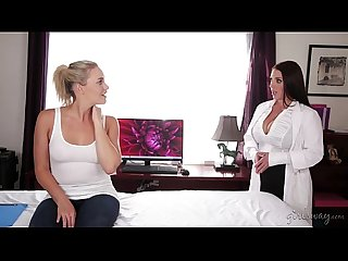 Huge natural tits seducing the lesbian worker - Mia Malkova, Angela White