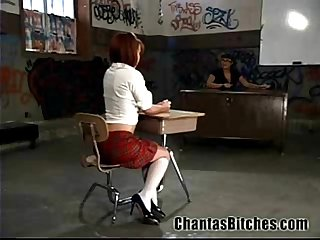 Electro bdsm for a schoolgirl
