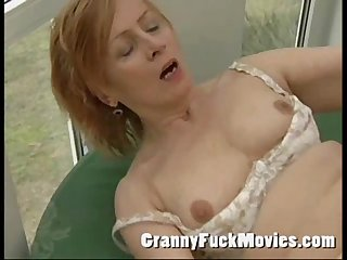 Sexy plump grandma fucked by guy