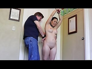 Nikko Jordan - Pt 2 - Bound Naked In A Hotel Room And Teased With A Massage Glove!!!