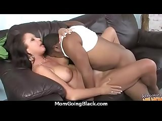 Older women gets big black cock in interracial video 27