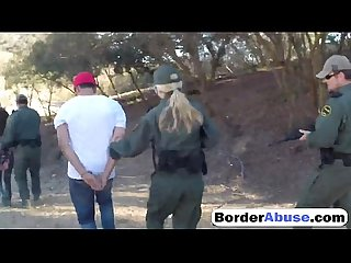 Slutty amateur girls are getting their pussies abused by border patrol agent