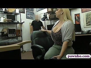 Big ass and big tits blonde babe pounded